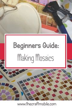 Beginners Guide Making Mosaics The Craftmobile - Mosaics Are One Of Those Crafts That Are Wonderfully Ancient While Also Being Easy To Modernise Whether You Are Inspired By Traditional Designs Or Want To Create Your Own Look Our Beginners Gui Mosaic Garden Art, Mosaic Pots, Mosaic Glass, Mosaic Tiles, Mosaic Birdbath, Stone Mosaic, Mosaic Art Projects, Mosaic Crafts, Easy Mosaic