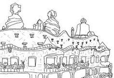 #Barcelona #Gaudí Dibujos para colorear Monumentos Colouring Pages, Coloring Books, Gaudi Barcelona, Antonio Gaudi, Paper Mosaic, Spanish Art, Painter Artist, Art Programs, Art Plastique