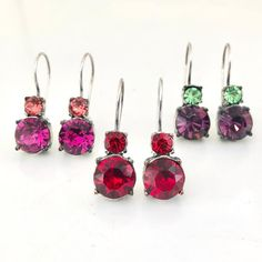 """Miglio Designer Jewellery on Instagram: """"Berry brights. Available online."""" Designer Jewellery, Jewelry Design, Berry, Bright, Christmas Ornaments, Holiday Decor, Earrings, Instagram, Ear Rings"""