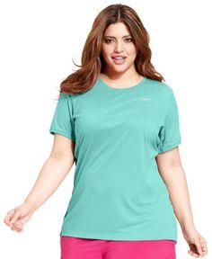 Nike Plus Size Short-Sleeve Dri-fit Running Top
