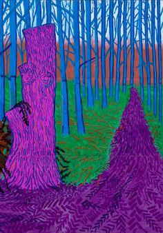 David Hockney, Winter Timber.. on ArtStack #david-hockney #art