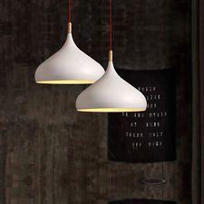 White Modern Home Pendant Chandelier Lightshade Lampshade E27 LED Fitting Holder