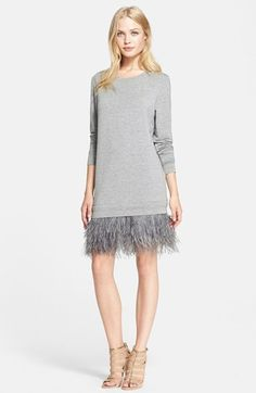 Haute Hippie French Terry Sweatshirt Dress at Nordstrom.com. Kicky ostrich feather fringe beneath the hemline adds roaring-20s glamour to a sporty sweatshirt dress.