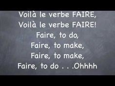 French Irregular Verb:  Faire