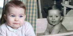 katemiddletons: Princess Charlotte (left) and her late paternal grandmother Diana (right) at about the same ages