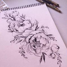 #эскизтату #набросок #эскиз #роза #tattoo #tattoo2me #tattooart #tattoopins #tattooblack #tattooartist #tattoomoscow #tattsketches #tattooinrussia #blxckink #blacktattoo #rosetattoo #flowertattoo #womantattoo #graphictattoo #peonytattoo #womantattoo #ink #dark #anemon
