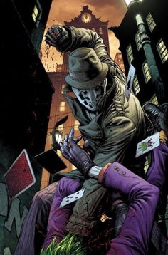 Rorschach vs The Joker in Doomsday's Clock