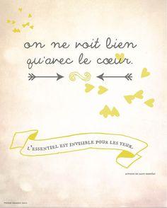 The Little Prince Print Inspirational Quote Print por MeninaLisboa