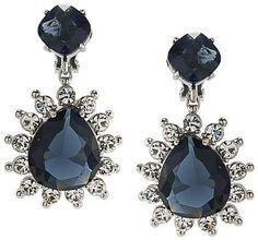 Carolee Double Drop Clip-On Earrings
