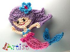 Crochet el Applique sirena