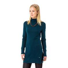 Blauer Strickpullover im Longstyle #zerofashion #blue