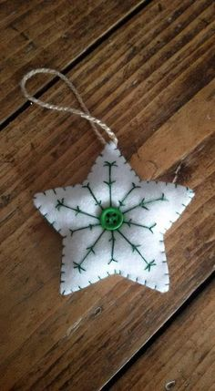 Your place where you can buy and sell everything handmade – christmas decorations Fabric Christmas Ornaments, Handmade Christmas Decorations, Felt Decorations, Christmas Sewing, Noel Christmas, Felt Ornaments, Rustic Christmas, All Things Christmas, White Christmas