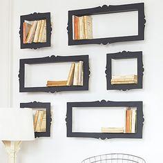 Baroque CD, DVD or Bookshelves - eclectic - wall shelves - Graham and Green Frame Shelf, Wall Shelves, Book Shelves, Book Storage, Storage Ideas, Recessed Shelves, Library Shelves, Cube Shelves, Bookcase Storage
