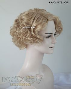 [Kasou Wig] Fantastic Beasts and Where to Find Them Queenie Goldstein short curly blonde wig