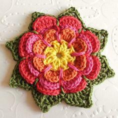 patrón de flor de ganchillo