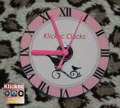 Pink 12cm Desk Shelf and Wall Clock by Klicknc on Etsy