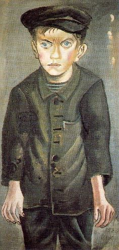 Working Class Boy - Otto Dix    Reminds me of David Copperfield or similar...
