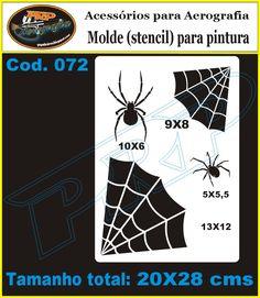 PRP Stencils: Stencil Animais: Aranhas - Passaros - Borboleta - Gato e outros
