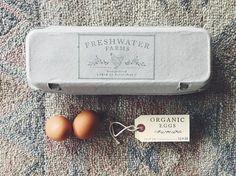 Egg Carton Stamp Design by Substation Paperie - for Farm Fresh Eggs - Backyard Chickens
