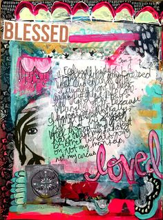 Art journal page by Samie Harding: a new year means a new challenge - 30 minutes a day in my art journal — Journal Girl.