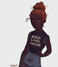 """In light of recent events, decided to redraw a still relevant old drawing of mine."" Art by ehlihr.tumblr.com. This is fantastic and we all know Hazel would be a passionate activist!"