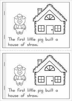 The three little pigs mini book