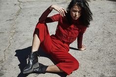Turtleneck, Button-up and Pants Vivian Chan; Shoes LD Tuttle