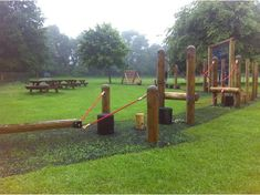 outdoor wood fitness trails with exercise stations - Google Search