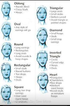e134432f0e Earrings based on face shape Hair For Face Shape