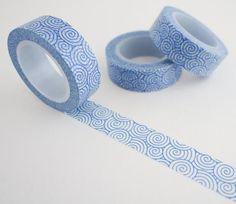 Blue Swirls Washi Tape - Modern Washi Tape