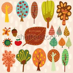 autumn-vector-set-collection-of-different-cartoon-trees-leaves-and-other_148970678.jpg (380×380)