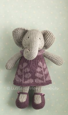 This reminds me of the crocheted elephant I had as a child!