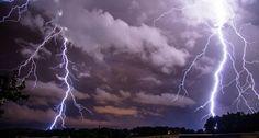 Lightning night light nature storm cities sky landscapes ...