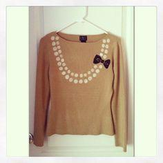 Audrey Trompe L'Oeil Necklace sweater on Etsy, $19.00