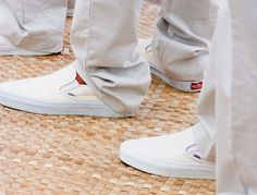 Slip-On Vans: It's all about location, location, location! If your nuptials will take place on a beach, these canvas slip-on vans are the perfect choice for your groom's footwear!