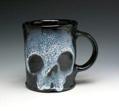 Zombie Tea Cup Coffee Mug by NicolePangasCeramics on Etsy, $30.00