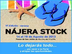 VI #Feria #Nájera Stock del 14 al 18 de agosto ¡productos de #calidad a precios #económicos!! #deportes, #calzado, #ferretería, #cosmética ....