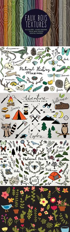 Nature Clipart MEGAPACK Camping clipart by LemonadePixel on Etsy