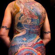 Tattoo by Shige. @shige_yellowblaze #shige #yellowblaze #yokohama #japan #tattooculturemagazine #tcm #followtcm #tattoo #tattoos #ink #art #backpiece #phoenix #nofilter