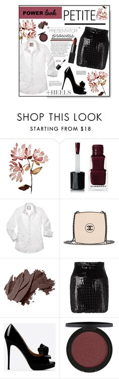"""Presenter Prowess"" by sierrrrrra on Polyvore featuring Burberry, Chanel, Bobbi Brown Cosmetics, Yves Saint Laurent, Valentino, NARS Cosmetics and powerlook"