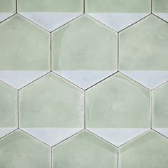 on trend: large scale hexagon tiles