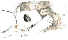 Träume und Alpträume Drucken von original von JessicaIllustration