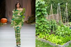 Gardens are so fashionable they're even making it onto the catwalks