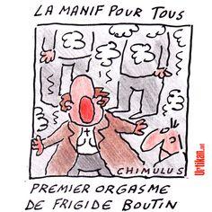 Christine Boutin et les lacrymos : l'image qui indigne les anti-mariage gay et amuse les pro - Dessin du jour - Urtikan.net