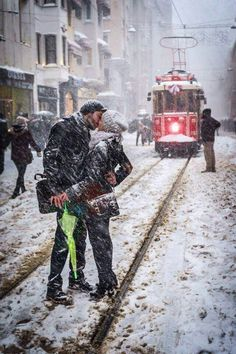 Istanbul-Turkey Istiklal Caddesi  http://istanbul.blog.hu/ All You Need Is Love, Love Is Sweet, Love Story, Istanbul Turkey, Romance, Couple Pictures, Falling In Love, Falling Leaves, Cute Couples