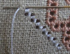 Tambour Embroidery, Hardanger Embroidery, Japanese Embroidery, Crewel Embroidery, Drawn Thread, Bargello, Crochet Videos, Embroidery Techniques, Filet Crochet