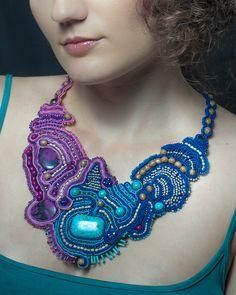 Soutache necklace by Dahrana