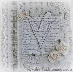 Vintervitt kärlekskort....