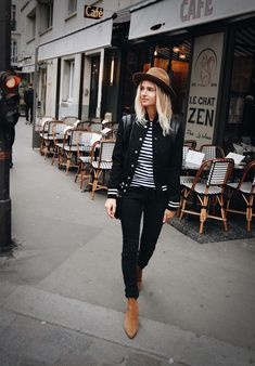 ZADIG ET VOLTAIR alabama hat COMME DES GARCONS PLAY striped long sleeve (or here) SAINT LAURENT teddy jacket NILI LOTAN black lace-up jeans (similar here) SANDRO suede boots (or here) photography by F. Flatau _____ _____ Paris memories… More photos on my Pinterest. x