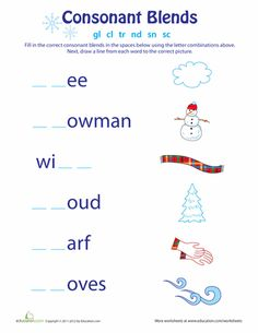 Words with consonant blends are a key component to phonics, and will help build a foundation for  reading and spelling skills. This set of printouts lets kids explore words with consonant blends using fun themes and colorful images. Each page asks kids to choose from a list of consonant blends, and fill in the blank spaces in the words. Finally, kids will draw a line to match the completed words with the pictures.